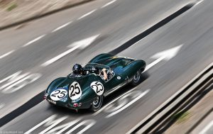 D Type Jaguar by car photographer Paul Ward