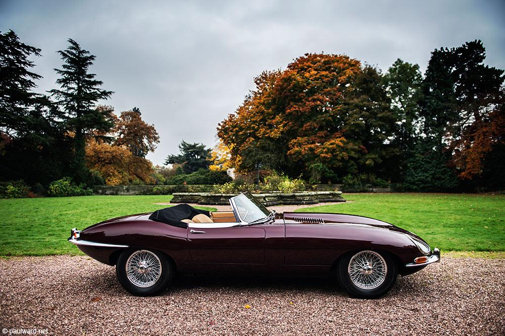 E type Jaguar by car photographer Paul Ward