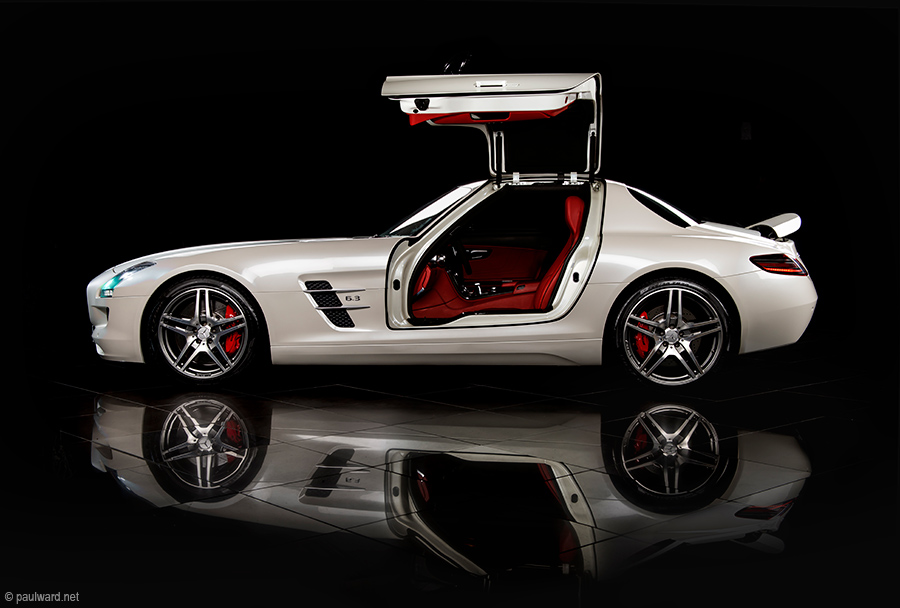 mercedes sls side by car photographer Paul Ward