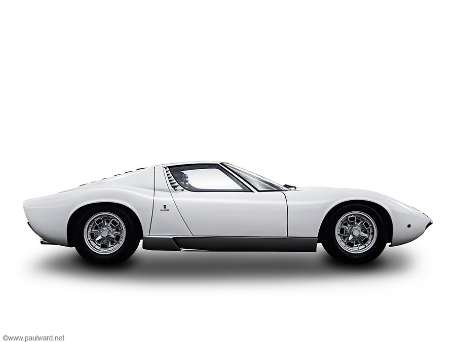 Lamborghini Miura side by car photographer Paul Ward
