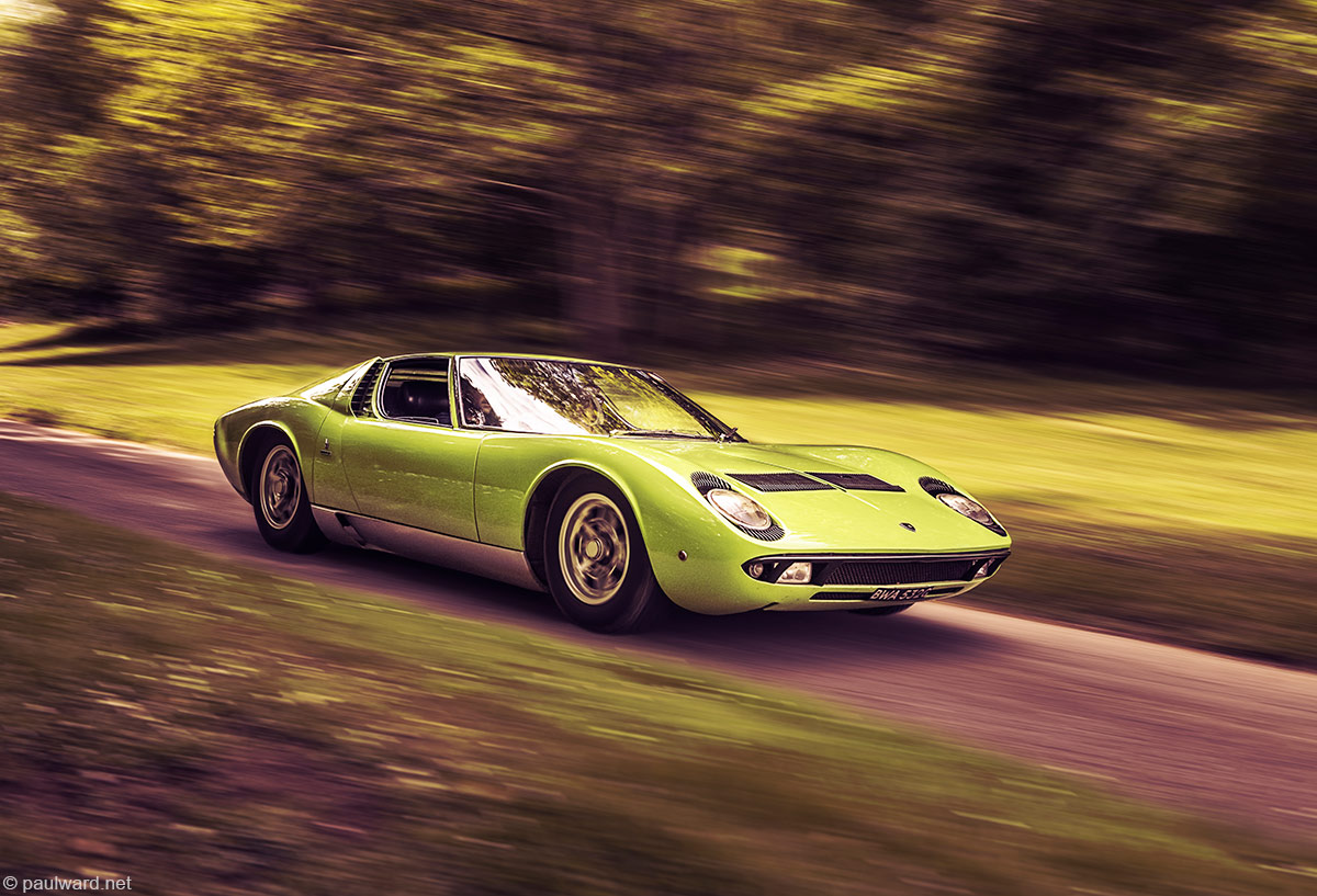 Lamborghini Miura by car photographer Paul Ward
