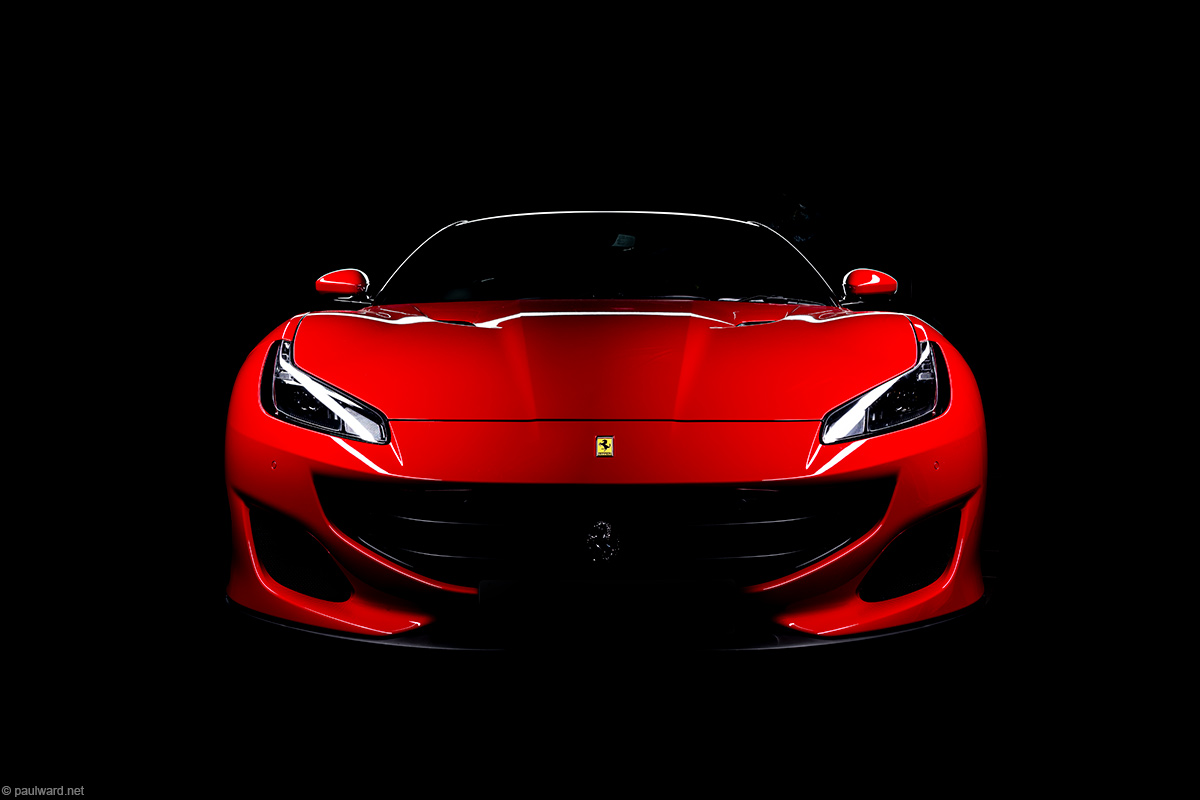 Ferrari Portofino red photography by Paul Ward