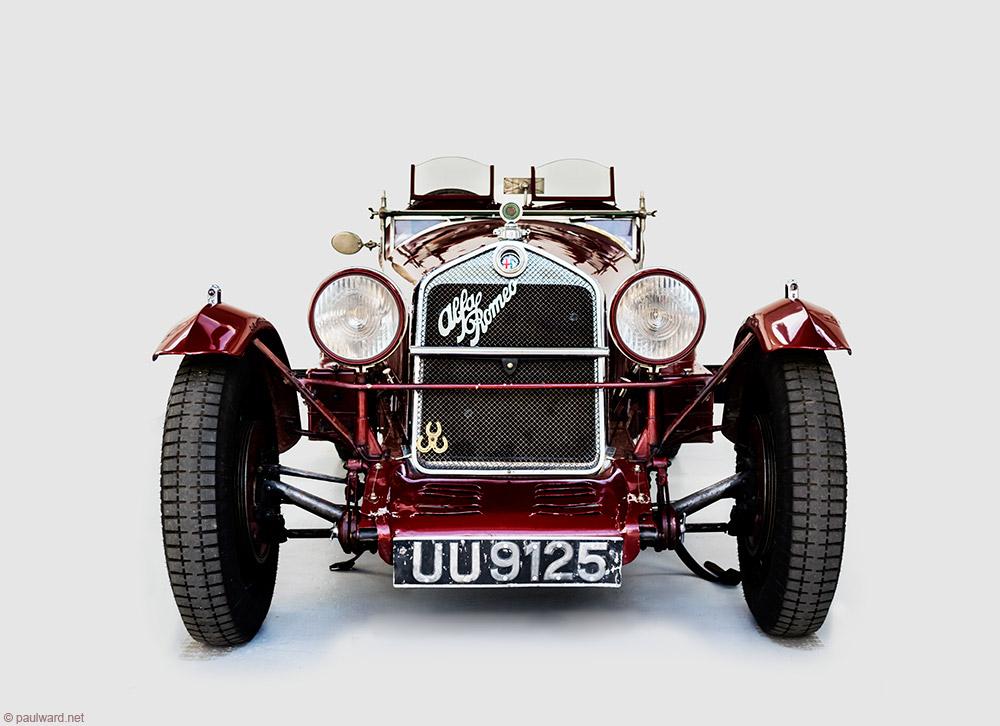 Alfa Romeo race car by Birmingham car photographer Paul Ward