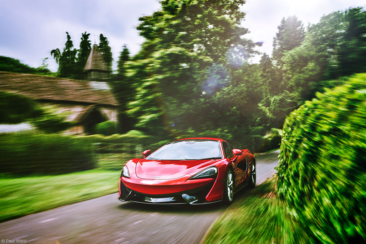 Mclaren 570s by Automotive photographer Paul Ward, car photography, supercar