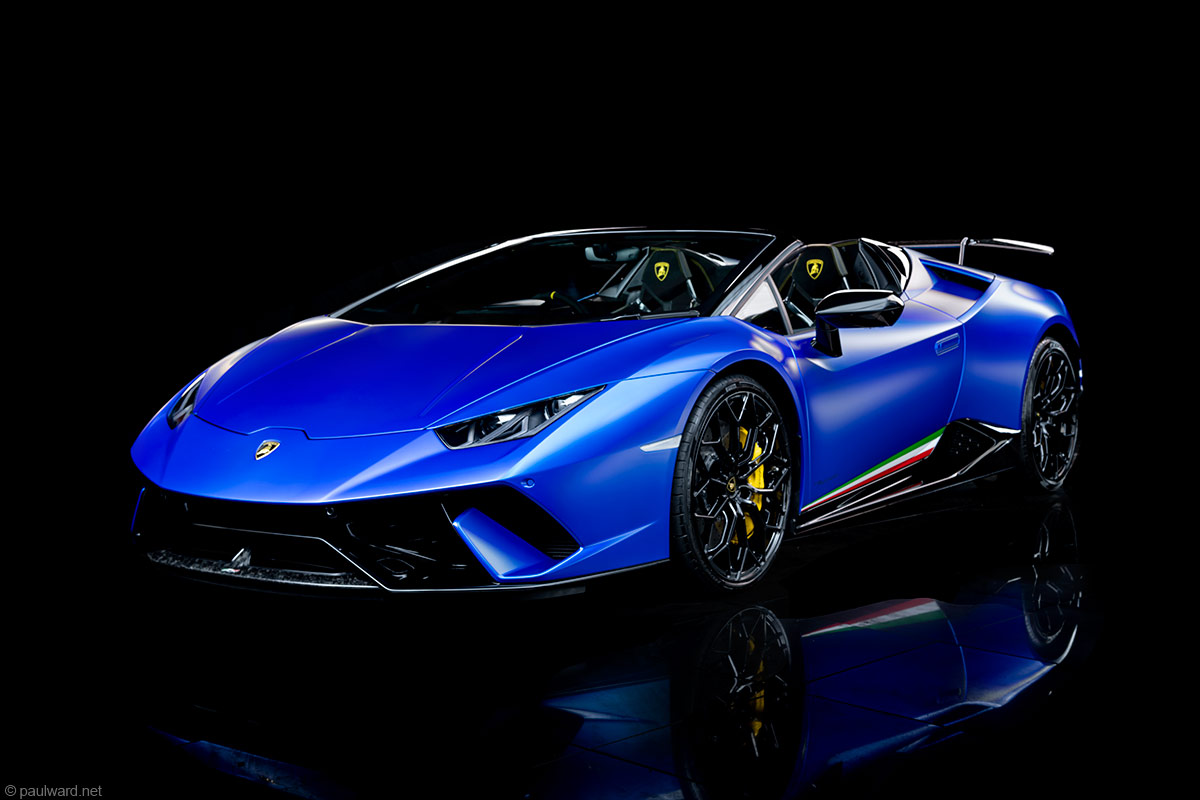 Lamborghini Huracan Performante by Automotive photographer Paul Ward, car photography, supercar