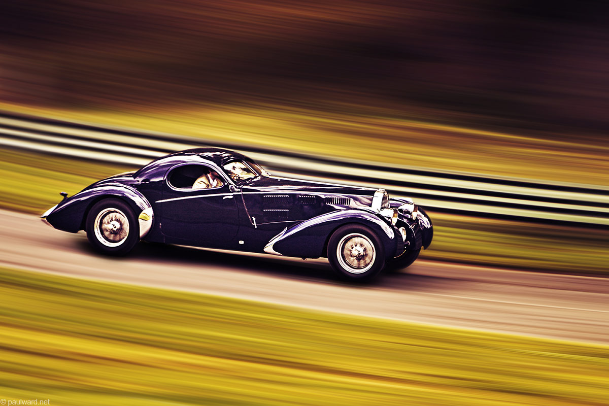Bugatti 57C by Classic car photographer Paul Ward,