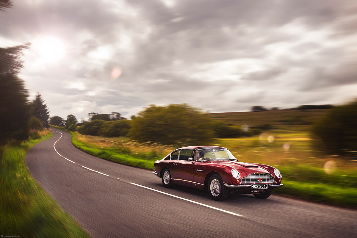 Aston Martin DB6 by classic car photographer Paul Ward, vintage car, automotive
