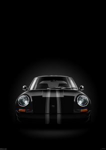 Porsche 911 outlaw, digital art by Birmingham car photographer Paul Ward. Classic cars, supercars, Automotive.